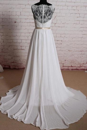 BMbridal Elegant Lace Chiffon A-line Wedding Dress Online_3