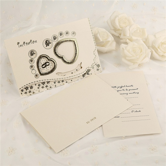 BMbridal Classic Tri-Fold Flower Hollow Style Invitation Cards (Set of 50)_6