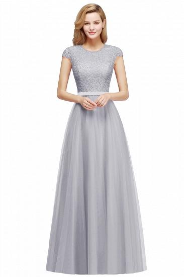 BMbridal A-line Jewel Tulle Lace Bridesmaid Dress_6
