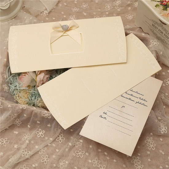 Classic Side-Fold Bowknot Style Invitation Cards (Set of 50)_7