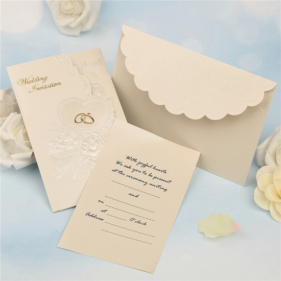 Classic Tri-Fold Imprint Flower Invitation Cards (Set of 50)_4