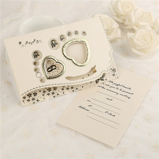 BMbridal Classic Tri-Fold Flower Hollow Style Invitation Cards (Set of 50)_3