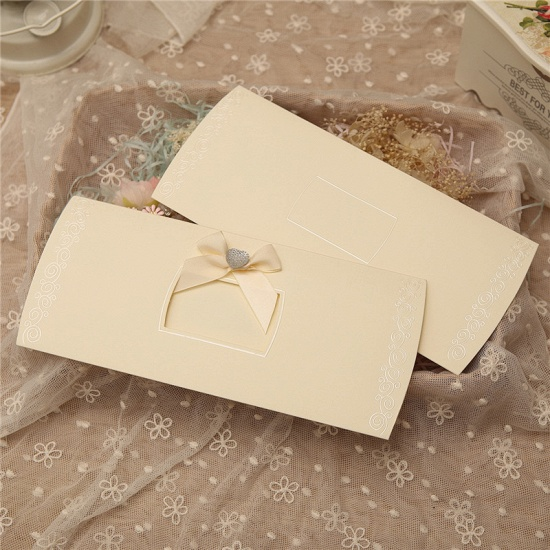 Classic Side-Fold Bowknot Style Invitation Cards (Set of 50)_6