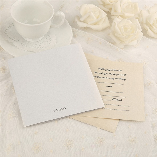 Classic Side-Fold Heart Imprint Invitation Cards (Set of 50)_6