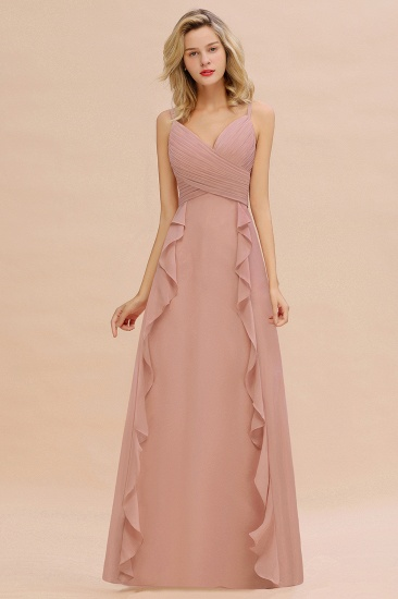 BMbridal Chiffon Long Sleeveless Bridesmaid Dress with Cascading Ruffles_6