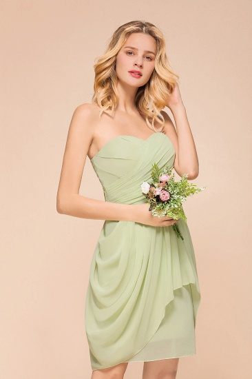 BMbridal Chic Chiffon Sweetheart Short Bridesmaid Dresses with Ruffle_7