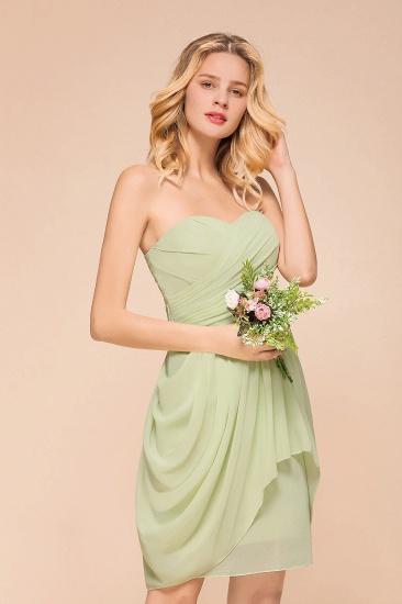 Chic Chiffon Sweetheart Short Bridesmaid Dresses with Ruffle_7