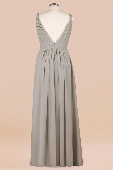 BMbridal Plus Size Chiffon V-neck Sleeveless Affordable Bridesmaid Dress with Ruffle_11