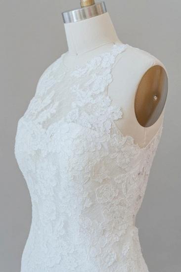 BMbridal Awesome Illusion Lace Mermaid Wedding Dress On Sale_7