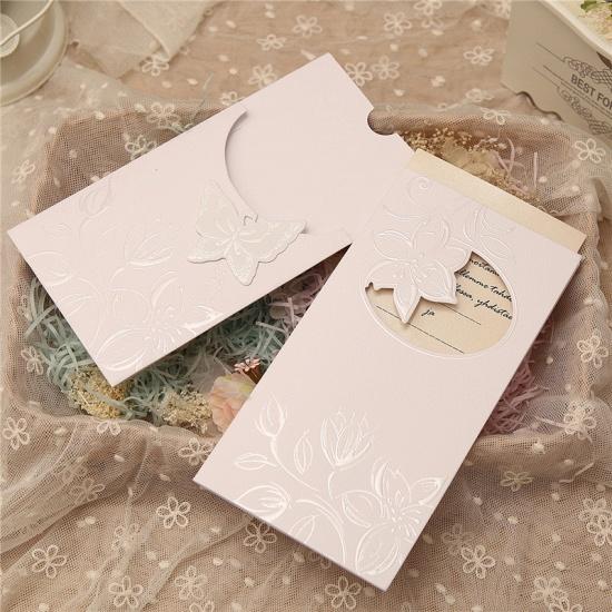 BMbridal Popular Side-Fold Hollow Flower Style Invitation Cards (Set of 50)_3