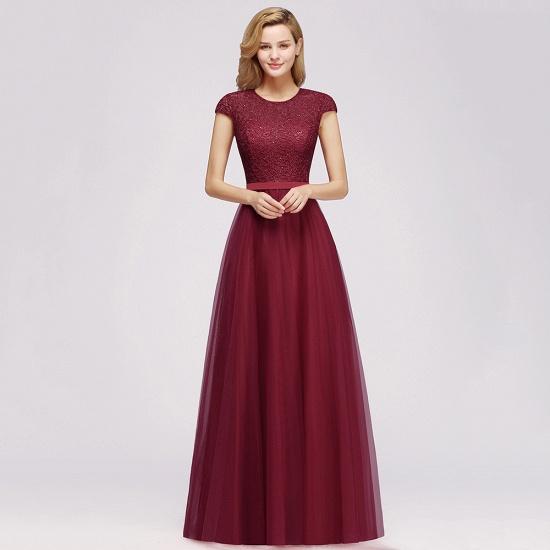 BMbridal A-line Jewel Tulle Lace Bridesmaid Dress_11