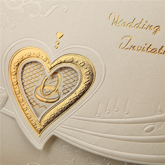 BMbridal Classic Tri-Fold Hollow Heart Style Invitation Cards (Set of 50)_6