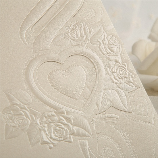 Classic Tri-Fold Heart Hollow Style Invitation Cards (Set of 50)_6