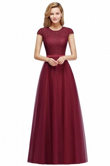 BMbridal A-line Jewel Tulle Lace Bridesmaid Dress_2
