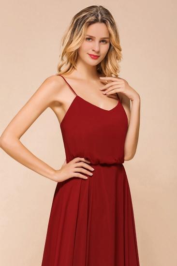 BMbridal Rust Spaghetti-Starps Long Chiffon Bridesmaid Dresses Online_9