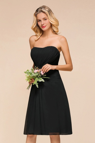 BMbridal Sweetheart Ruffle Short Black Bridesmaid Dress_7
