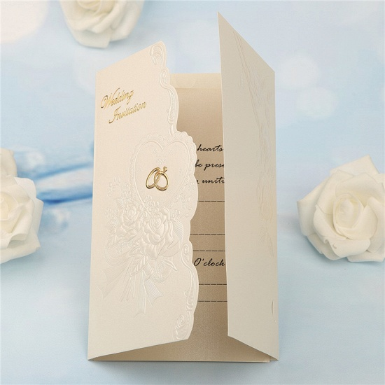 Classic Tri-Fold Imprint Flower Invitation Cards (Set of 50)_6