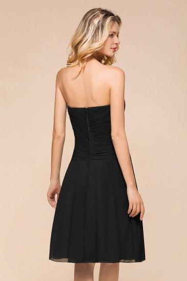 BMbridal Sweetheart Ruffle Short Black Bridesmaid Dress_8