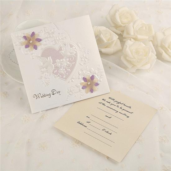 Classic Side-Fold Heart Imprint Invitation Cards (Set of 50)_2