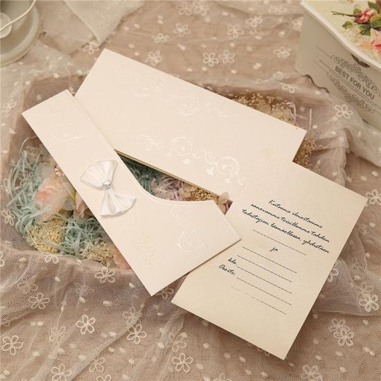 Modern Side-Fold Crystal Bowknot Style Invitation Cards (Set of 50)_8