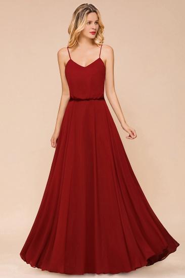 BMbridal Rust Spaghetti-Starps Long Chiffon Bridesmaid Dresses Online_6