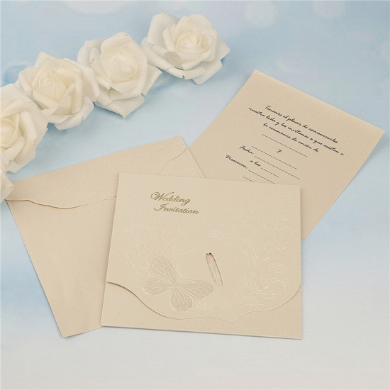 Classics Tri-Fold Butterfly Style Invitation Cards (Set of 50)_4