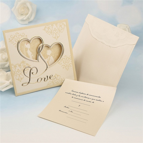 BMbridal Modern Tri-Fold Hollow Heart Style Invitation Cards (Set of 50)_2