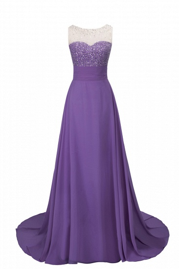 BMbridal Chic Jewel Chiffon Tulle Party Dress with Sequins
