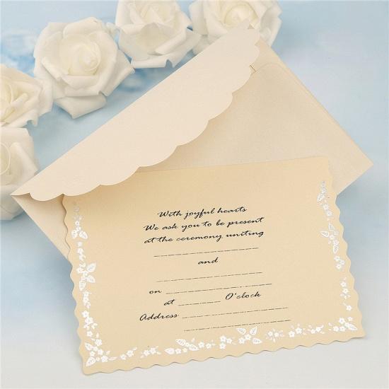 Modern Tri-Fold Bowknot Style Invitation Cards (Set of 50)_8