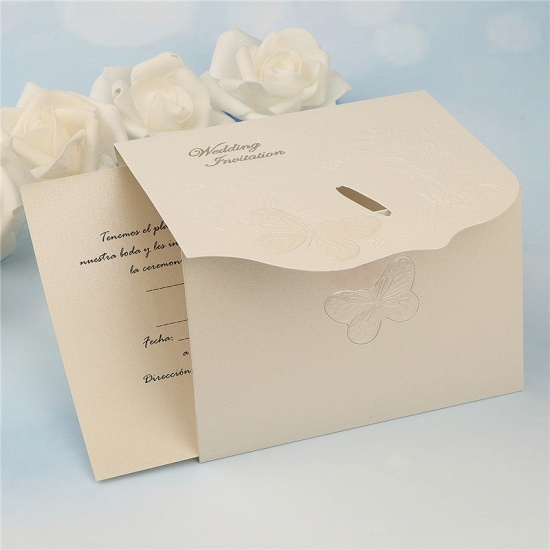 Classics Tri-Fold Butterfly Style Invitation Cards (Set of 50)_6