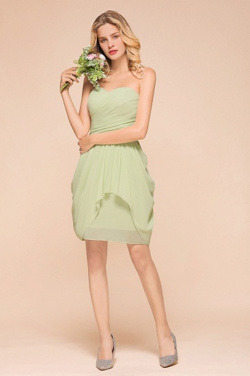 Chic Chiffon Sweetheart Ruffle Short Bridesmaid Dress