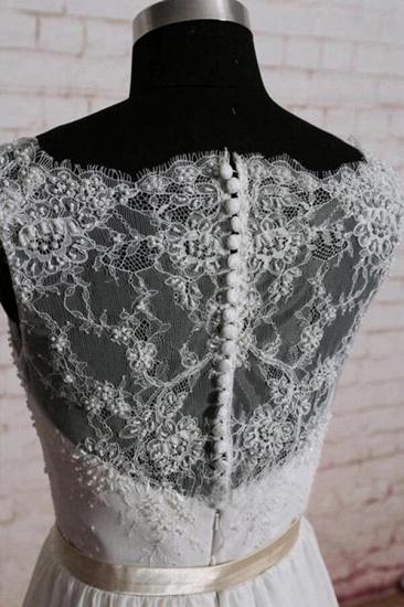 BMbridal Elegant Lace Chiffon A-line Wedding Dress Online_4