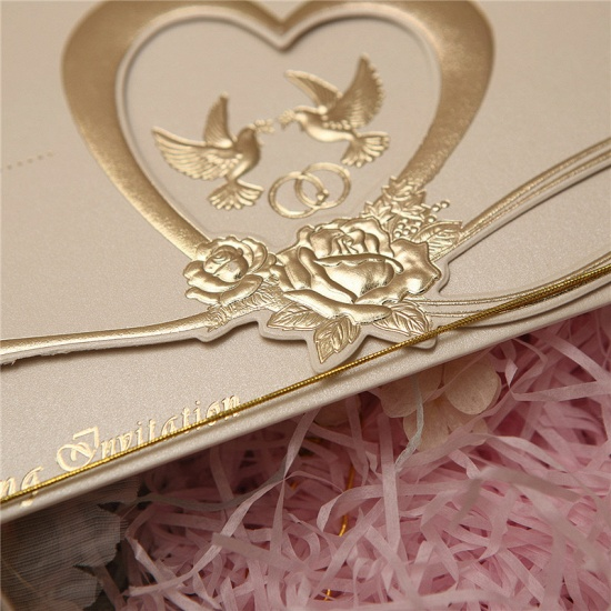 BMbridal Gorgeous Tri-Fold Heart Style Invitation Cards (Set of 50)_6