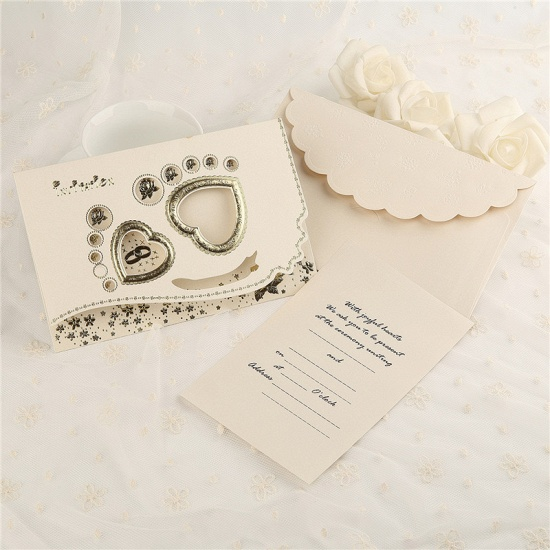 BMbridal Classic Tri-Fold Flower Hollow Style Invitation Cards (Set of 50)_2