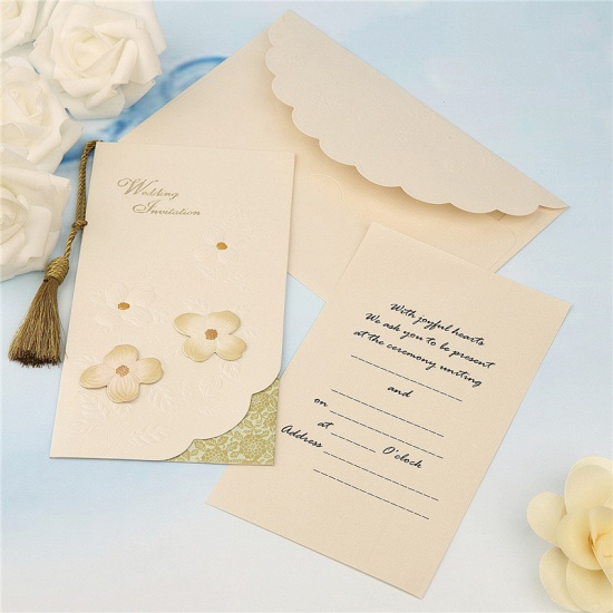 Modern Side-Fold Tassel Import Invitation Cards (Set of 50)_2