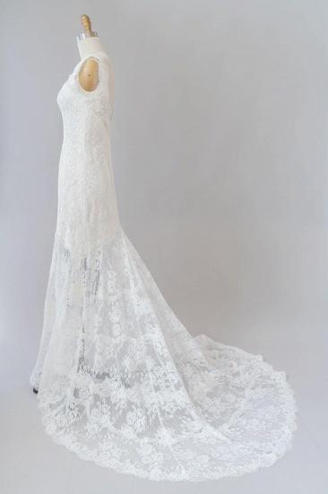 BMbridal Eye-catching Sweetheart Lace Mermaid Wedding Dress On Sale_5