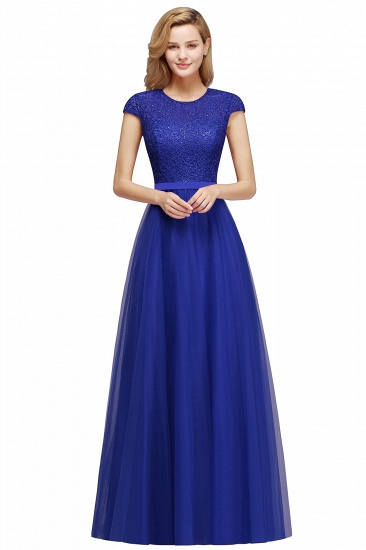 BMbridal A-line Jewel Tulle Lace Bridesmaid Dress_3