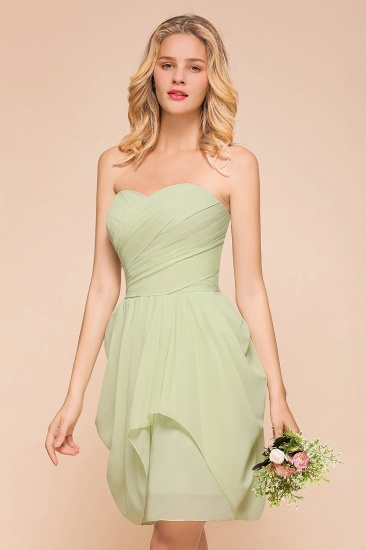 BMbridal Chic Chiffon Sweetheart Short Bridesmaid Dresses with Ruffle_6
