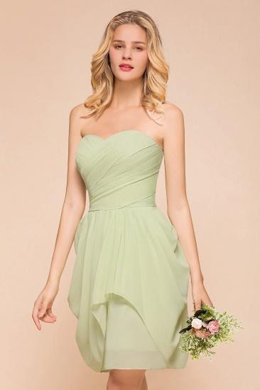Chic Chiffon Sweetheart Short Bridesmaid Dresses with Ruffle_6