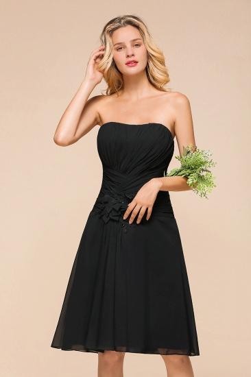 BMbridal Sweetheart Ruffle Short Black Bridesmaid Dress_6