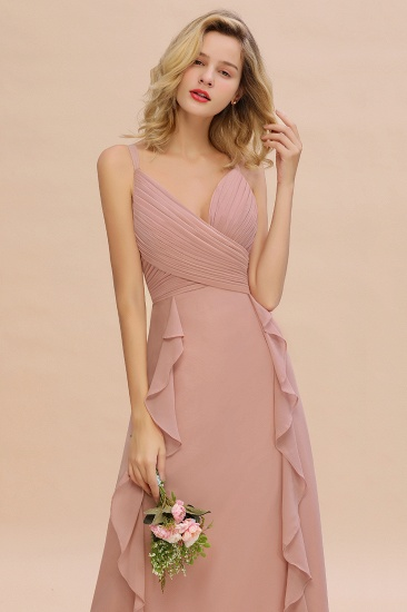 BMbridal Chiffon Long Sleeveless Bridesmaid Dress with Cascading Ruffles_7