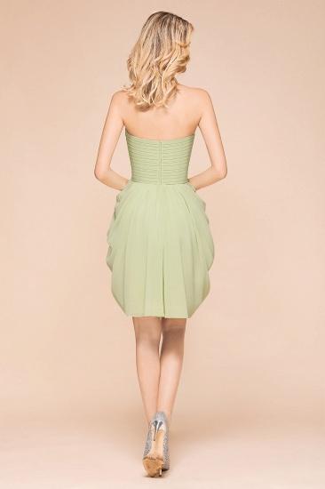 Chic Chiffon Sweetheart Short Bridesmaid Dresses with Ruffle_3