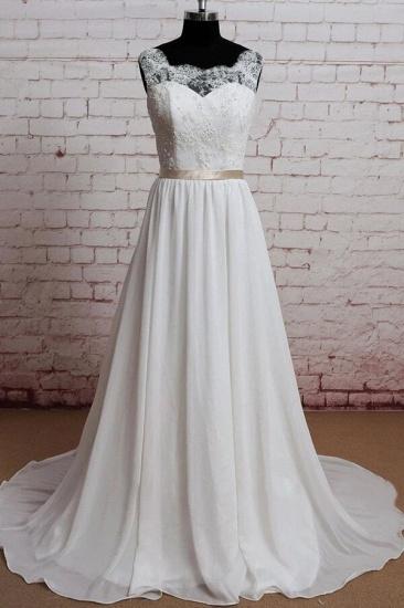 BMbridal Elegant Lace Chiffon A-line Wedding Dress Online_1