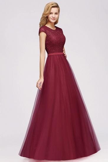 BMbridal A-line Jewel Tulle Lace Bridesmaid Dress_10