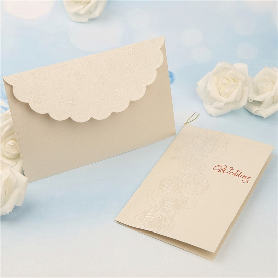 Modern Tri-Fold Imprint Flower Invitation Cards (Set of 50)_3