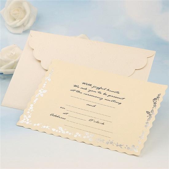 Modern Tri-Fold Bowknot Style Invitation Cards (Set of 50)_7