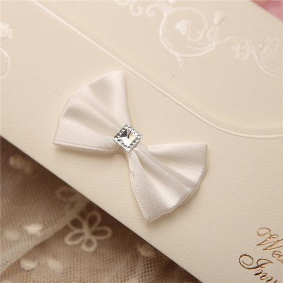 Modern Side-Fold Crystal Bowknot Style Invitation Cards (Set of 50)_6