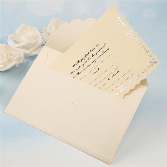 Modern Tri-Fold Bowknot Style Invitation Cards (Set of 50)_10
