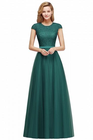 BMbridal A-line Jewel Tulle Lace Bridesmaid Dress_7