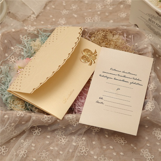 Classic Tri-Fold Heart Style Invitation Cards (Set of 50)_4